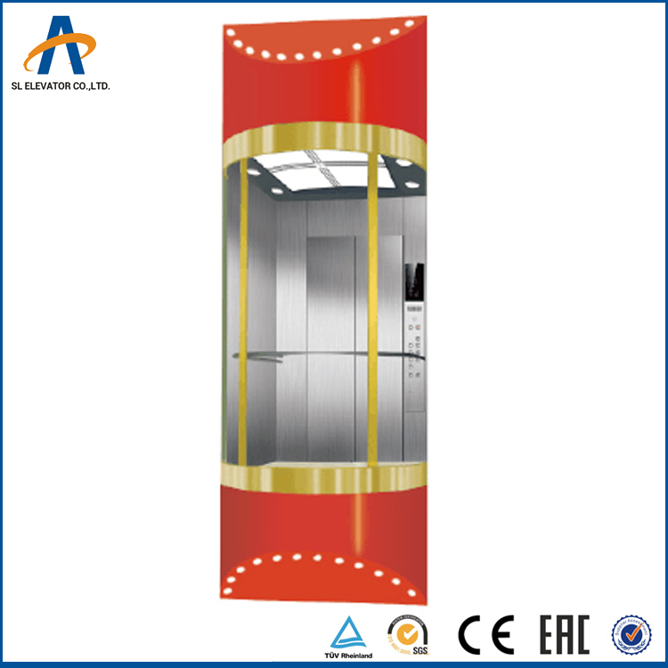 13persons MRL Sightseeing passenger elevator for outdoor