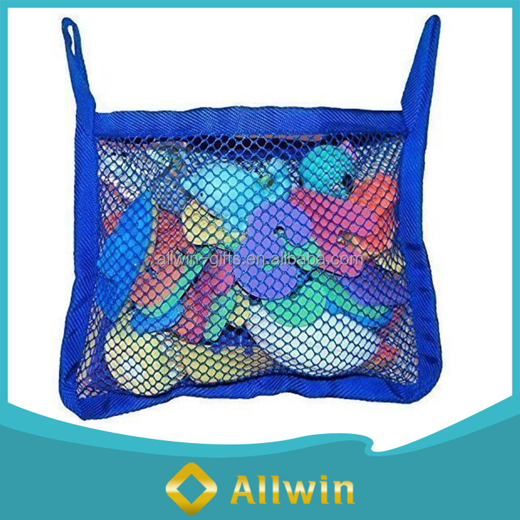 Storage Mesh Blue Bath Toy Hanging Organizer