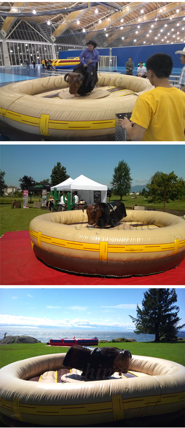 Giant Inflatable Mechanical Riding Bull Machine Simulator Adult Kids Inflatable Rodeo Bull For Sale