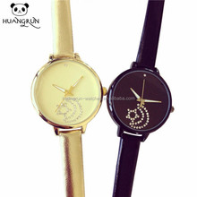 China leather wrist girls new design watch