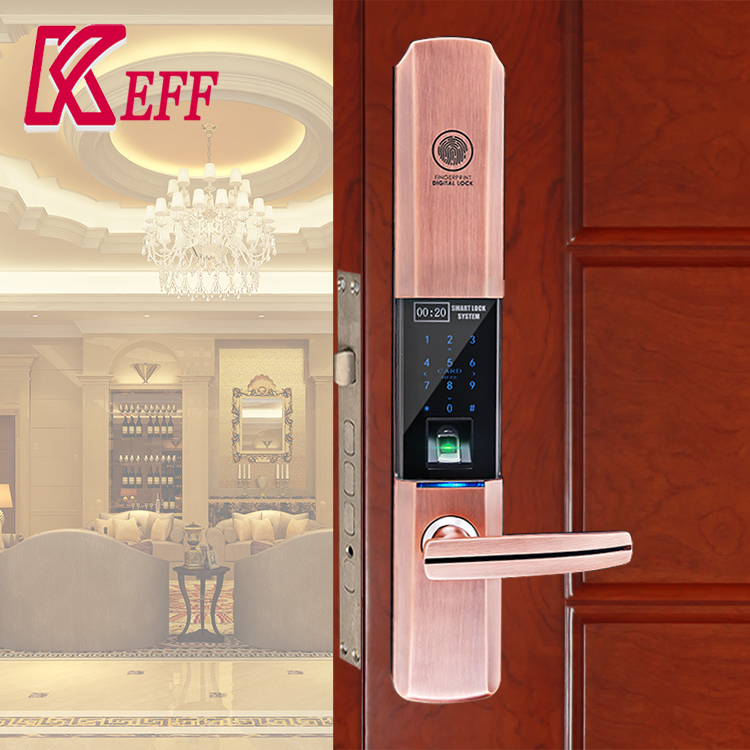 Factory Price Keyless Security Smart Password Code Fingerprint Door Lock WIFI Mobile Phone APP For School Hospital Office