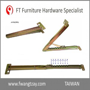 Made In Taiwan 8 Position Lift up Industrial Furniture Adjustable Angle Door Desk Table Bed Sofa Metal Bracket Fitting Hardware