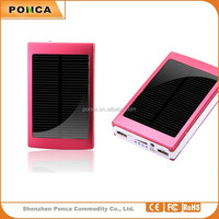 high efficiency power bank 15000mah Univeral Solar External Battery Charger for Apple & Android Devices