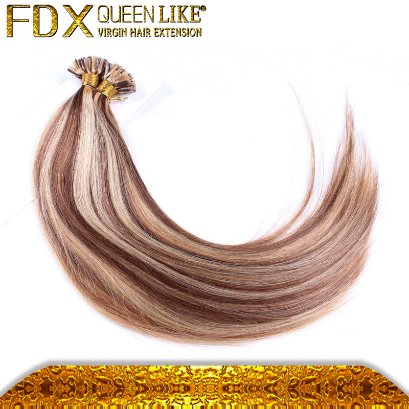 Cheap Peruvian Hair Extensions Natural Raw Clean Human Hair Extesions Blond <strong>u</strong> Tip
