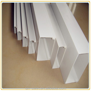 promotion price rectangular PVC pipe square PVC conduit PVC trunking