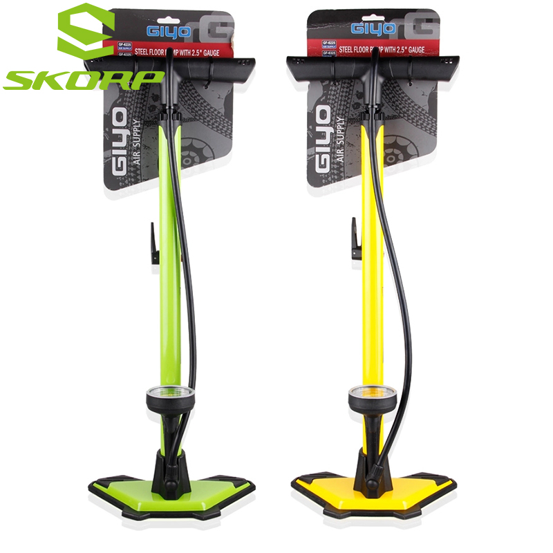 GIYO Floor Pump High Pressure Bicycle Air Tire Pump Bike Foot Pump