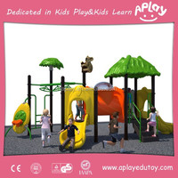 Playground plastic outdoor slides for kids play games toys equipment outside AP-OP207023