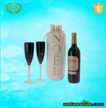 eco friendly cotton personalized wine gift bags
