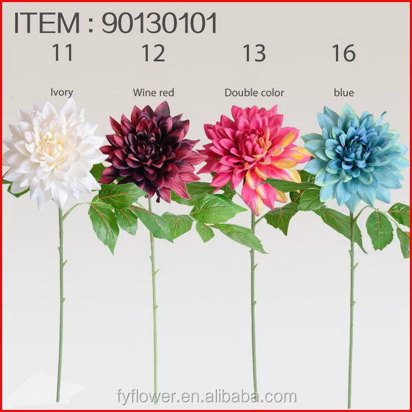 Best quality manufacture silk dahlia