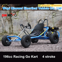 QWMOTO Handle Bar 196cc 6.5HP buggy 4 Stroke racing go kart for sale