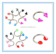 Horseshoe acrylic nose eyebrow BCR rings body piercing