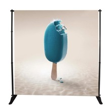 Digital printed collapsible backdrop