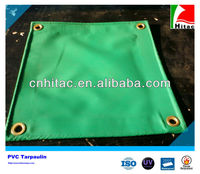 Custom PVC Knife Coated Green Tarps For Truck Cover