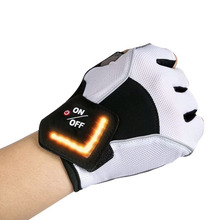 2017 New style Unique LED Smart Turn Signal Half Finger Cycling Gloves