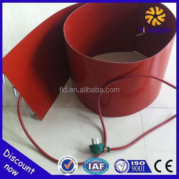 1740*300*1.5mm 1200W 380v Custom 20L/200L Silicone Band Oil Drum Heater With adhustable thermostat