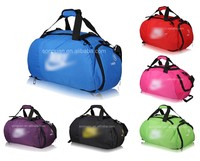 sport duffel bag with shoes compartments custom logo waterproof travel shoe bag