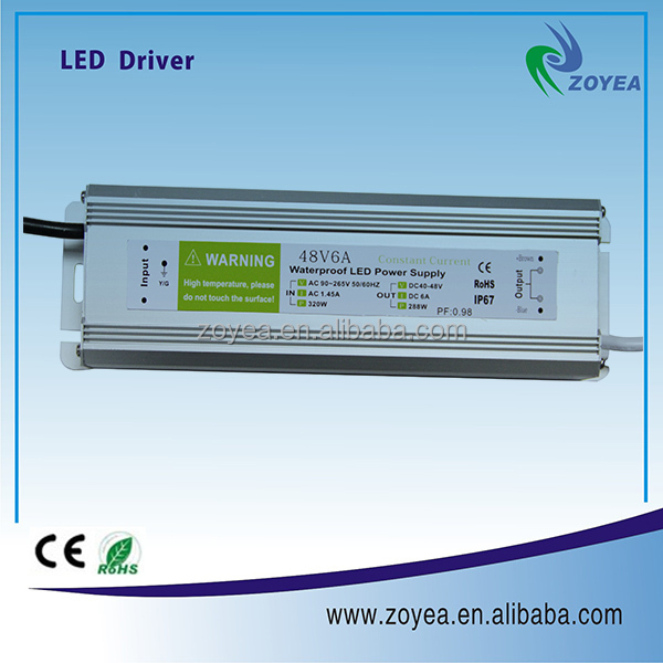 constant current led driver 300W 36-48V waterproof IP65 led power supply with 3 years warranty CE ROHS