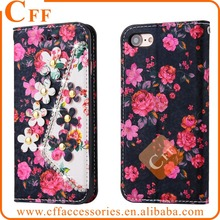 For Samsung Galaxy A3 A5 A7 2015 2016 Flip Leather Phone Case Flower Floral Diamonds Wallet Stand Folio Book Cover