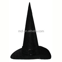 wholesale fancy adult decorated halloween's witch hat with feather MCH-0323