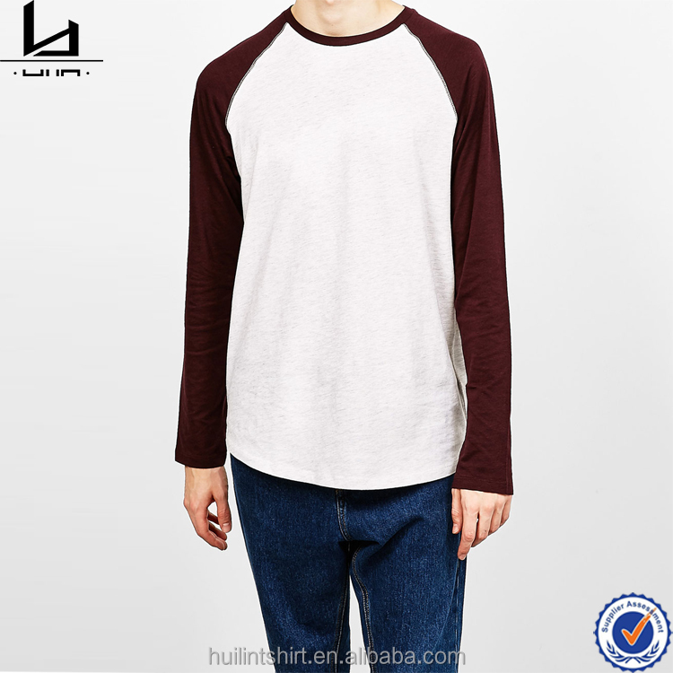 new arrival style men clothing baseball raglan tees