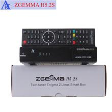 Europe Hot Sale ZGEMMA H5.2S Satellite Receiver/Media Player Dual Core Linux OS DVB-S2+S2 Twin Tuners With HEVC/H.265 Decoding