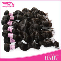 love&love hair products 100% unprocessed brazilian hair loose wave
