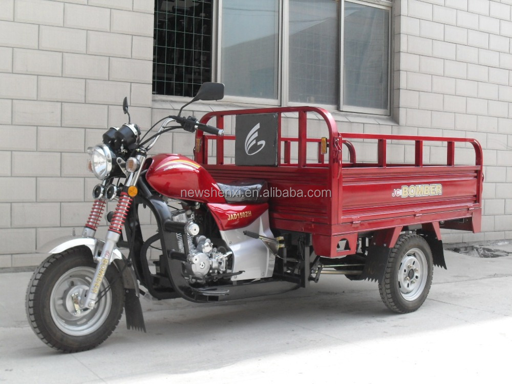 Good Quality 200CC Lifan Petrol Engine Stand Up Cargo Tricycle Passenger Sightseeing Tricycle