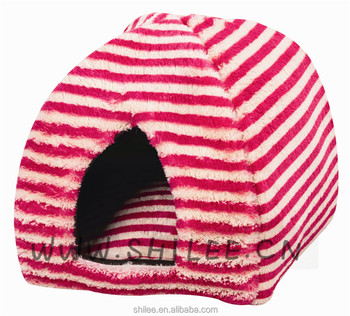 Pet Supplies Supper Soft Striped Pet Fleece Bed Doggy Warm Soft Bed
