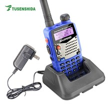 Blue Baofeng UV-5RA Long Range Dual Band Ham Two Way Radio with Lcd display and Battery Save Walkie Talkie UV 5RA