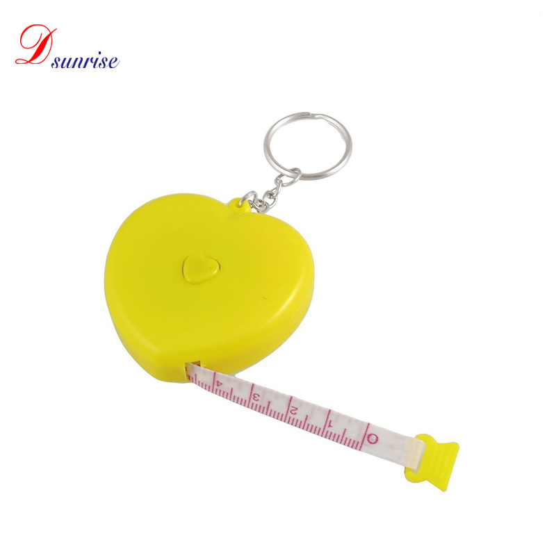 1.5 Meter Heart Shaped Soft Roll Tape <strong>Measuring</strong> Retractable Tape <strong>Measure</strong>, Yellow