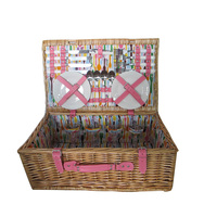 100% handmade 4 person willow wicker picnic basket wicker basket