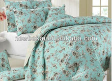 Microfiber bed cover set quilt