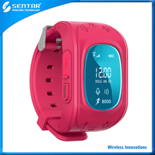 Silicone wristband gps mobile phone kids watch, smart children tracker phone