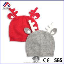 winter knit jacquard crochet hat earflaps with deer