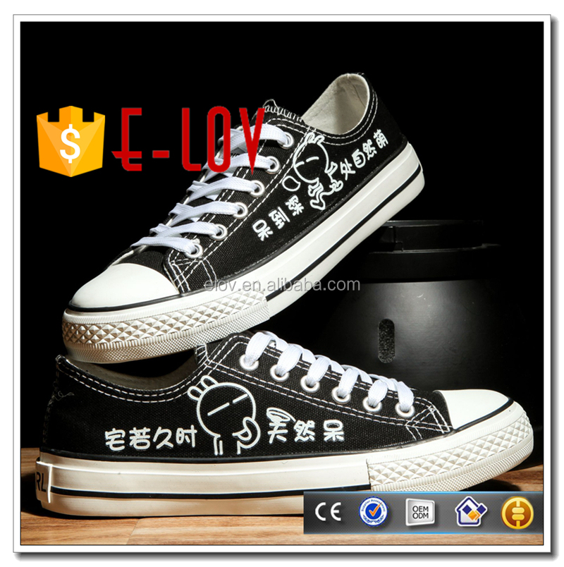 High quality rubber sole canvas shose led casual shoe T-D201H
