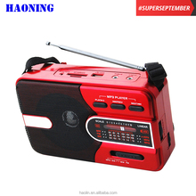 hot sale cheap haoning portable am fm mw sw radio with usb sd tf