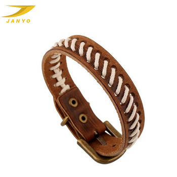 Personalized vintage style men leather cuff bracelets