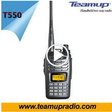 High Quality 5W Long Range VHF/UHF Ham Two Way Radio T550
