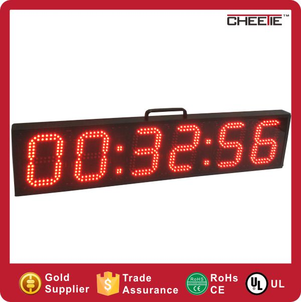 HQ Giant Remote HH:MM:SS 12/24 Hour Stadium Clock LED Display