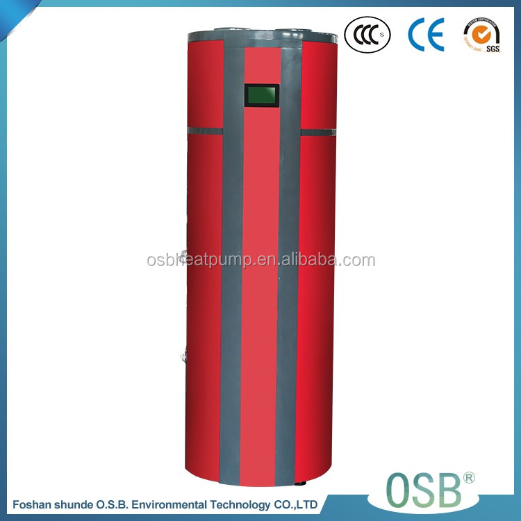 Wifi Control Ce Certified Domestic Hot Water Heat Pump Water Heater All In One Design Heat Pump 250 Litre Water Tank