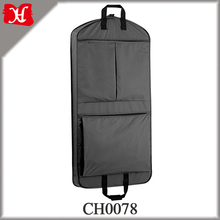 Nonwoven black suit cover,mens suit bag garment cover,luxury leather suit cover bag
