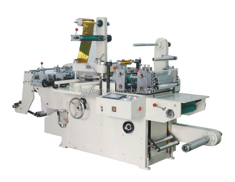 CE approved kiss die cutting machine with hot stamping device
