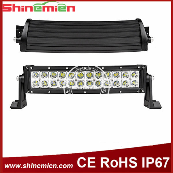 CURVED C-REE LED LIGHT BAR 72W 13.5 INCH 4X4 4WD DRIVING LIGHTS OFF ROAD