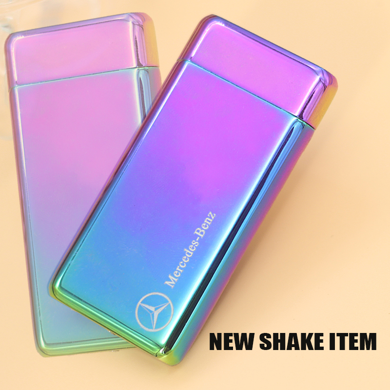 new fashion usb charged arc lighter with shack function