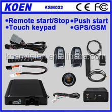 Funny Remote Control Start Anti-theft Car Alarm With Push Button Engine Start/Stop Function