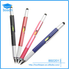 tool pen,6 in 1 Tool Pen, top touch and scale multifunction metal pen