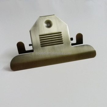 120mm bronze large metal office file clip for clipboard