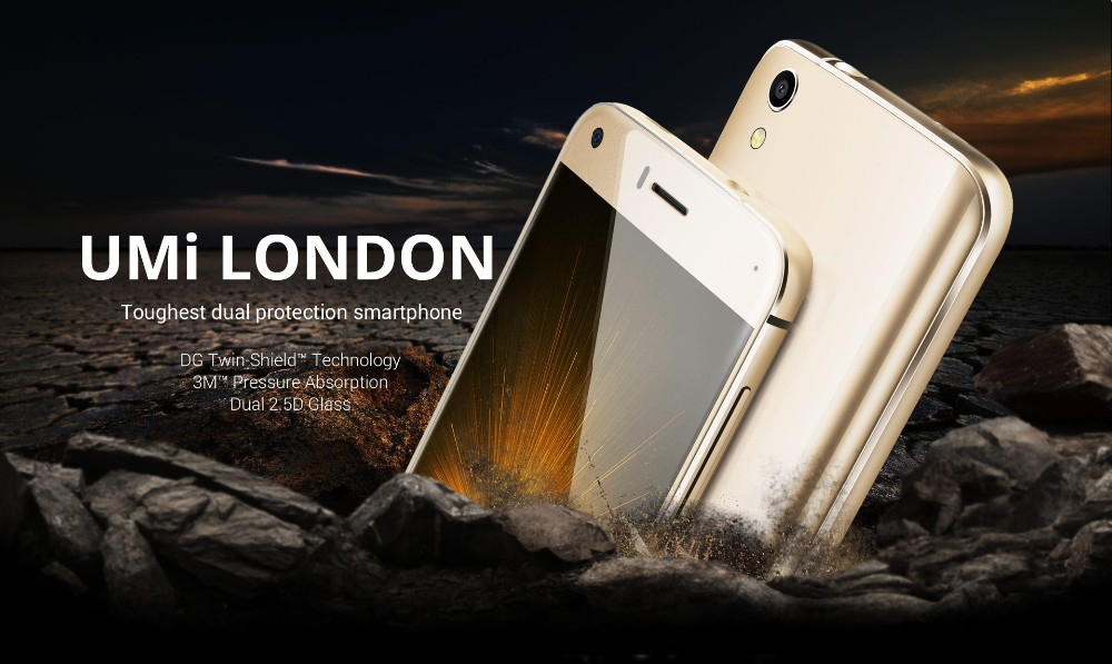 Original Umi London 5.0inch 1280*720P Android 5.0 MTK6580 Quad Core 8MP Camera 1GB RAM 8GB ROM Dual SIM Mobile Phone