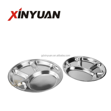 30-32-35cm 6 Divided Stainless Steel round snack tray
