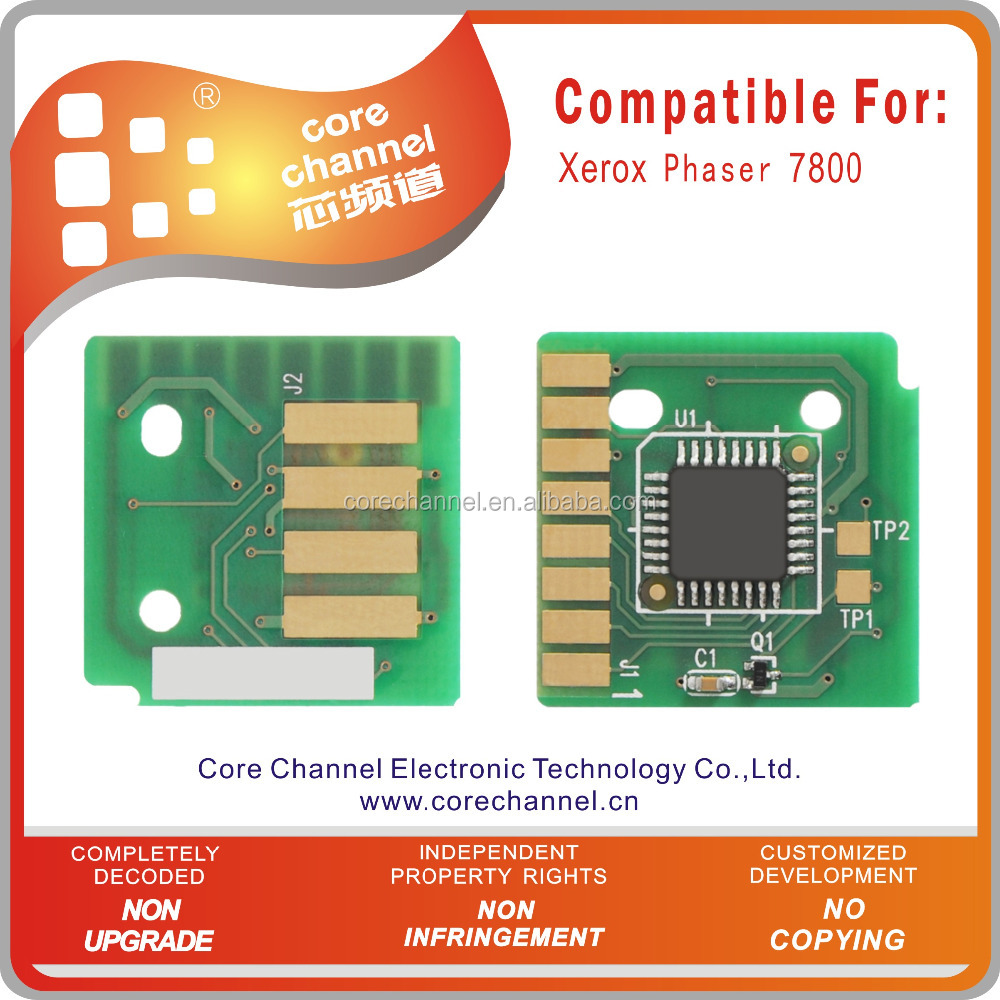 Compatible Xeroxs Phaser 7800 Toner Chip